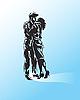 Векторный клипарт: мужчина и женщина поцеловала.