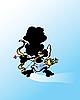 Векторный клипарт: Амур с луком.