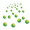 Векторный клипарт: Многие зеленые теннисные мячи.