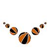 Векторный клипарт: Семь шаров баскетбол.