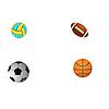 Векторный клипарт: Четыре различных мяча