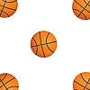Векторный клипарт: Пять шаров баскетбол.