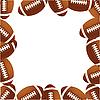 Векторный клипарт: Регби футбольных мячей.