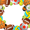 Vector clipart: Football, volleyball, tennis and Rugby balls
