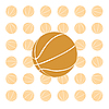 Vector clipart: Orange basketball ball.