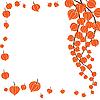 Векторный клипарт: Красивые оранжевые цветы.