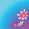 Векторный клипарт: Три цветка.
