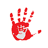 Vector clipart: Hand print.
