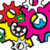 Vector clipart: Colour gears.