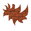 Vector clipart: Blot of red brick.