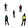 Vector clipart: men and women
