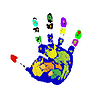 Vector clipart: Hand print.