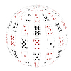 Vector clipart: 3d sphere of playing cards.