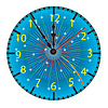 Vector clipart: Dial of hours.