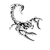 Vector clipart: black and white scorpion