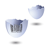Vector clipart: Bar code on an egg-shell.