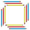 Vector clipart: Sixteen color pencils.