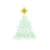 Vector clipart: New Year tree consisting of stars .