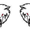 Vector clipart: Head of wolf.
