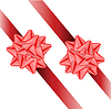 Vector clipart: two ribbons with bows.