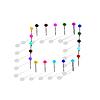 Vector clipart: color pins.