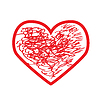 Vector clipart: Red heart.