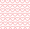 Vector clipart: Abstraction of red hearts.