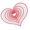 Vector clipart: Abstract red heart.