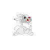 Vector clipart: Beautiful, gray rabbit.