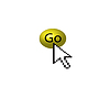 Vector clipart: The cursor and the yellow button.