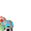 Vector clipart: Four balls, football.