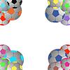 Vector clipart: Football, color balls.