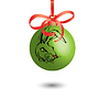 Vector clipart: Christmas decoration, rabbit represented on bal. illus