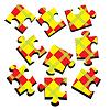 Vector clipart: 3-D puzzle.