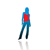 Vector clipart: Silhouette of the woman in T-shirt.