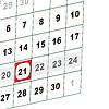 Vector clipart: Wall calendar.