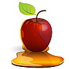 Vector clipart: Apple with caramel