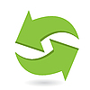 Vector clipart: green arrows