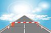 Vector clipart: barrier