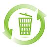 Векторный клипарт: мусорная корзина