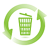 Vector clipart: wastebasket