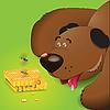 Векторный клипарт: медведь и мед