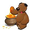 Vector clipart: bear and honey
