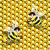 Vector clipart: bees and honey