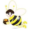 Векторный клипарт: пчела