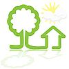 Векторный клипарт: домик и дерево