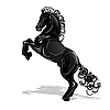 ID 3095981 | Black Horse | Stock Vector Graphics | CLIPARTO
