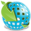 Vector clipart: Blue Ball And Green Arrow