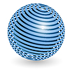 Blue ball | Stock Vector Graphics