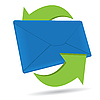 Vector clipart: blue envelope